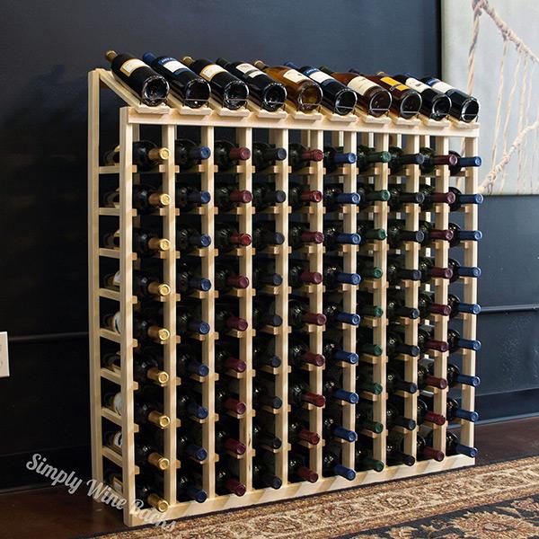 product specs 100 bottle display top wine rack - Wine Racks For Sale